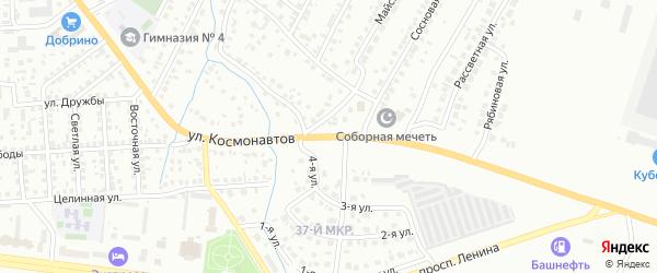 Улица Космонавтов на карте Октябрьского с номерами домов