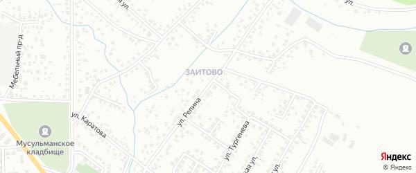 Улица Репина на карте Октябрьского с номерами домов