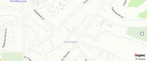 Сиреневая улица на карте Октябрьского с номерами домов