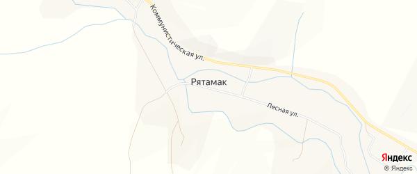 Карта села Рятамака в Башкортостане с улицами и номерами домов