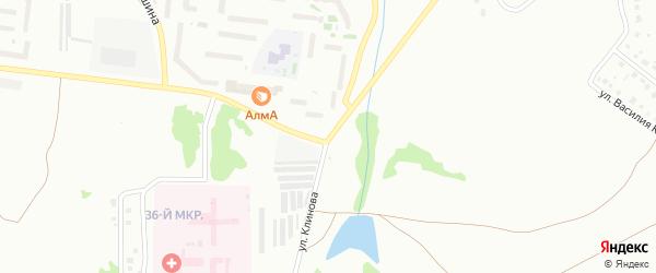Улица Клинова на карте Октябрьского с номерами домов