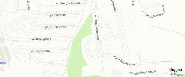 Кольцо Достоевского на карте Октябрьского с номерами домов