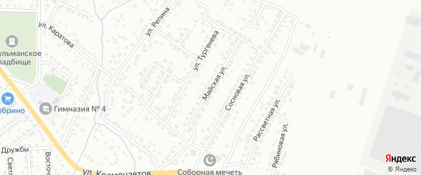 Майская улица на карте Октябрьского с номерами домов