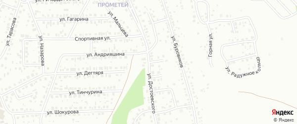 Улица Достоевского на карте Октябрьского с номерами домов