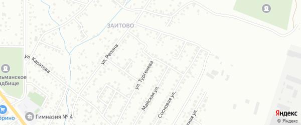 Улица Тургенева на карте Октябрьского с номерами домов