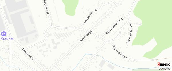 Клубная улица на карте Октябрьского с номерами домов