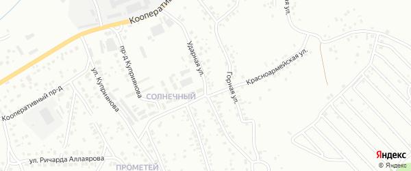 Ударная улица на карте Октябрьского с номерами домов