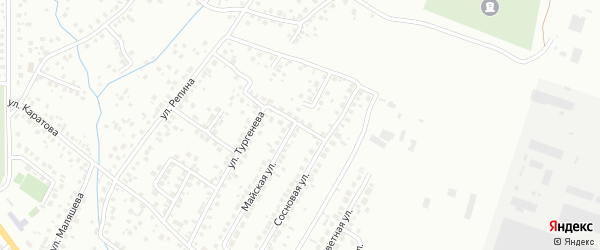 Безымянная улица на карте Октябрьского с номерами домов