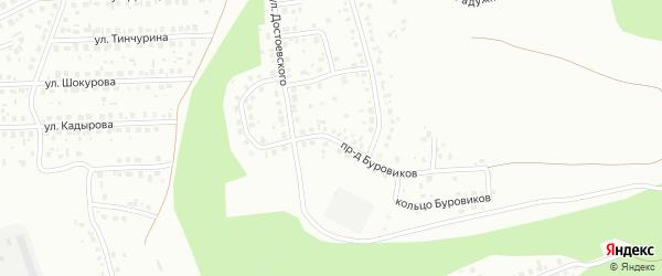 Проезд Буровиков на карте Октябрьского с номерами домов