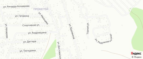 Улица Буровиков на карте Октябрьского с номерами домов