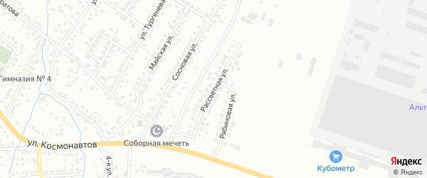 Рассветная улица на карте Октябрьского с номерами домов