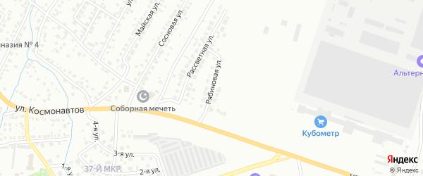 Рябиновая улица на карте Октябрьского с номерами домов