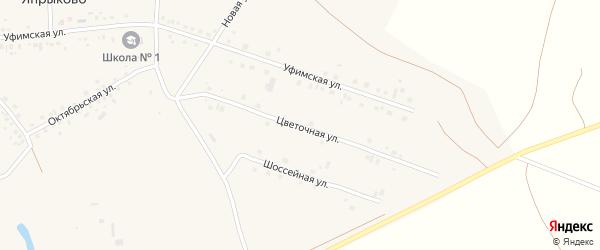 Цветочная улица на карте села Япрыково с номерами домов