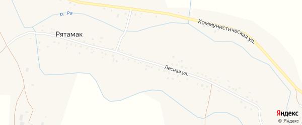 Лесная улица на карте села Рятамака с номерами домов