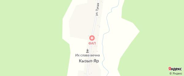 Тукая улица на карте села Кызыла-Яра с номерами домов