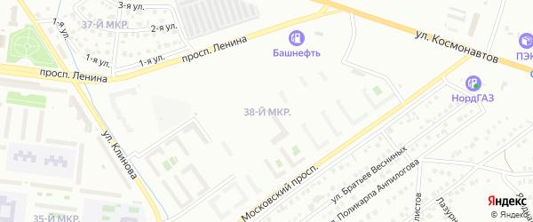 38-й микрорайон на карте Октябрьского с номерами домов