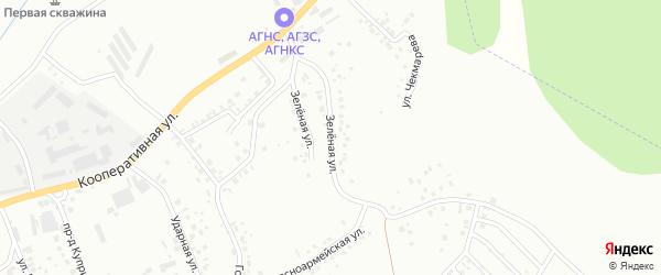 Зеленая улица на карте Октябрьского с номерами домов