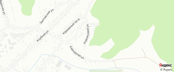 Родниковая улица на карте Октябрьского с номерами домов