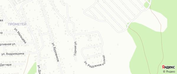 Радужный проезд на карте Октябрьского с номерами домов