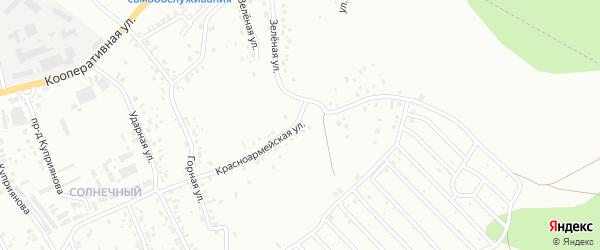 Красноармейская улица на карте Октябрьского с номерами домов