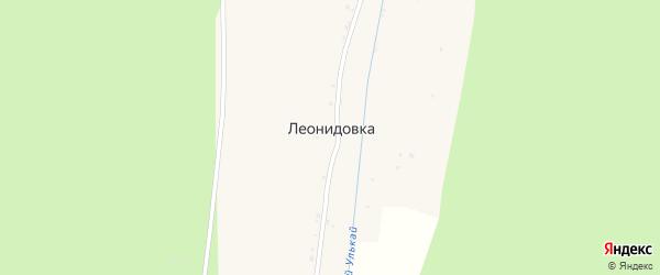 Центральная улица на карте села Леонидовки с номерами домов