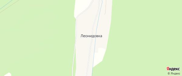 Карта села Леонидовки в Башкортостане с улицами и номерами домов