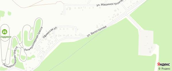 Проезд Белоглазова на карте Октябрьского с номерами домов