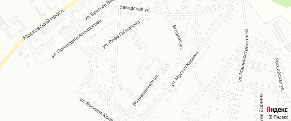 16-я улица на карте 40-й микрорайона с номерами домов