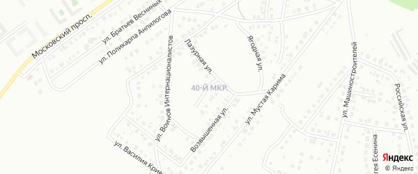 18-я улица на карте 40-й микрорайона с номерами домов