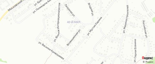 9-я улица на карте 40-й микрорайона с номерами домов