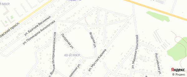Ягодная улица на карте Октябрьского с номерами домов