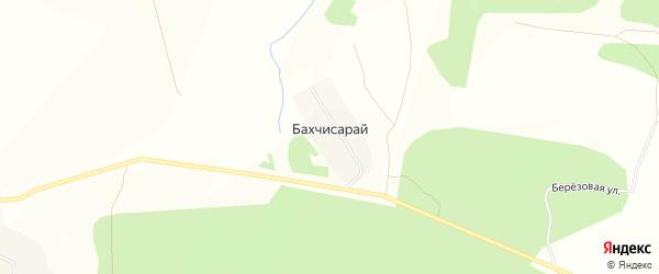 Карта деревни Бахчисарая в Башкортостане с улицами и номерами домов