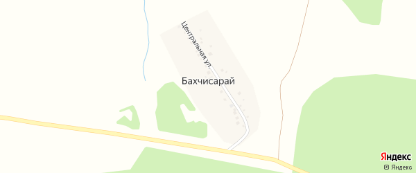 Центральная улица на карте деревни Бахчисарая с номерами домов