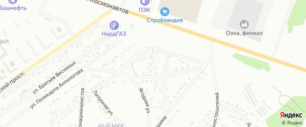 Улица Зайнаб Биишевой на карте Октябрьского с номерами домов