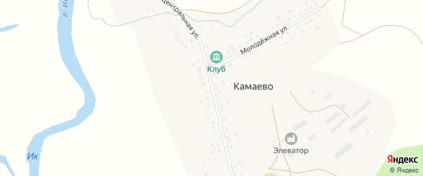 Центральная улица на карте села Камаево с номерами домов