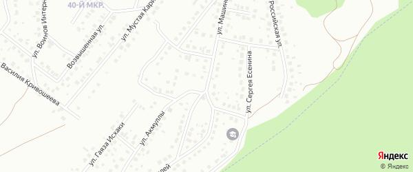 Улица Машиностроителей на карте Октябрьского с номерами домов