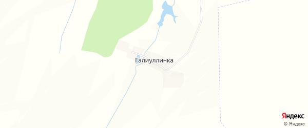 Карта деревни Галиуллинки в Башкортостане с улицами и номерами домов