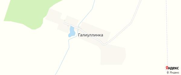 Родниковая улица на карте деревни Галиуллинки с номерами домов