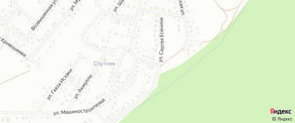 Улица Афридонова на карте Октябрьского с номерами домов