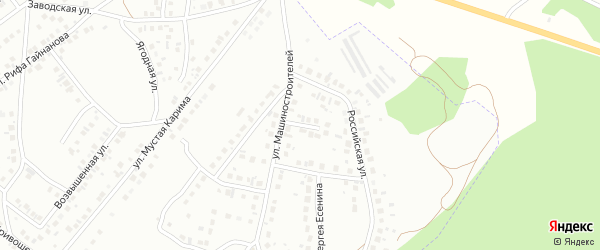 Кольцо Машиностроителей на карте Октябрьского с номерами домов