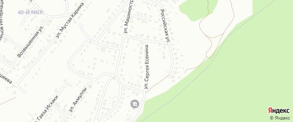 Улица Есенина на карте Октябрьского с номерами домов