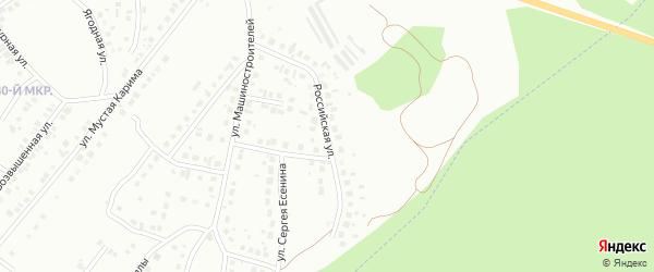 Российская улица на карте Октябрьского с номерами домов