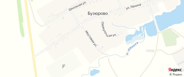 Мостовая улица на карте села Бузюрово с номерами домов