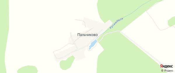 Карта деревни Пальчиково в Башкортостане с улицами и номерами домов