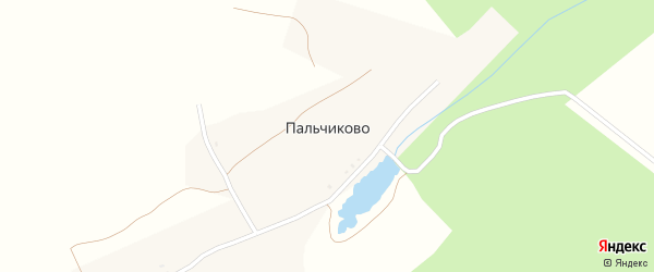 Улица Пальчикова на карте деревни Пальчиково с номерами домов