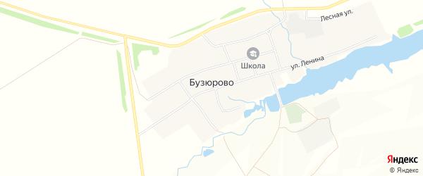 Карта села Бузюрово в Башкортостане с улицами и номерами домов