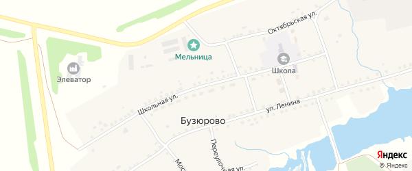 Школьная улица на карте села Бузюрово с номерами домов