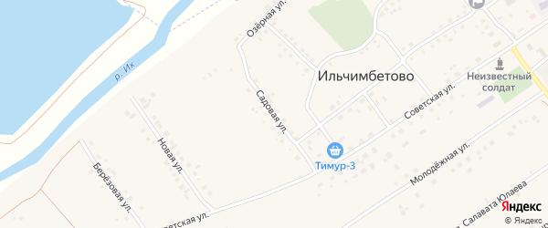 Садовая улица на карте села Ильчимбетово с номерами домов