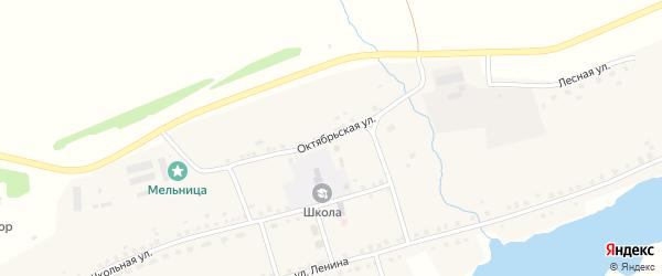 Октябрьская улица на карте села Бузюрово с номерами домов