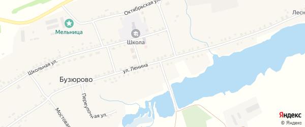 Улица Ленина на карте села Бузюрово с номерами домов